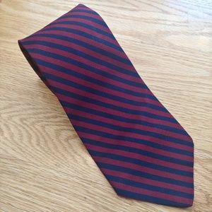 Brooks Brothers Silk Maroon/Blue Tie